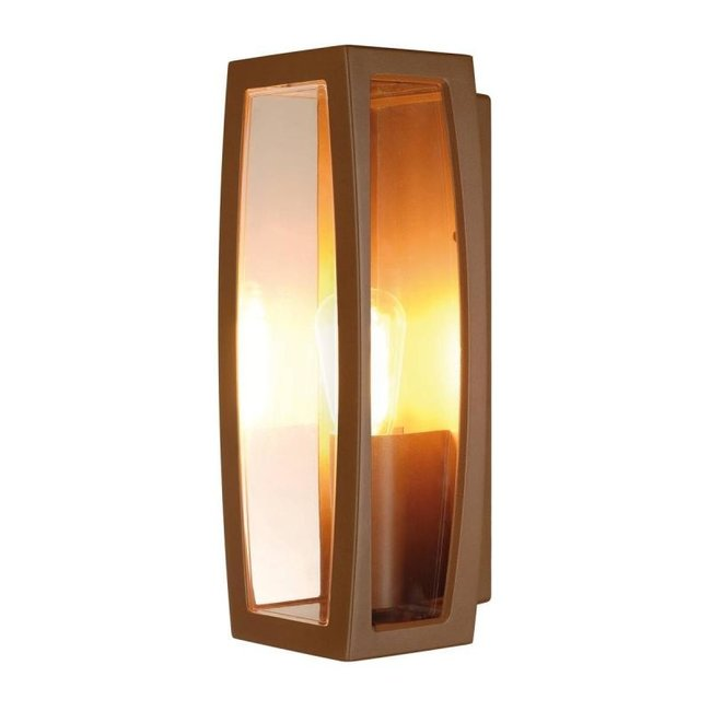 SLV Meridian 2 BOX roestkleur wandlamp