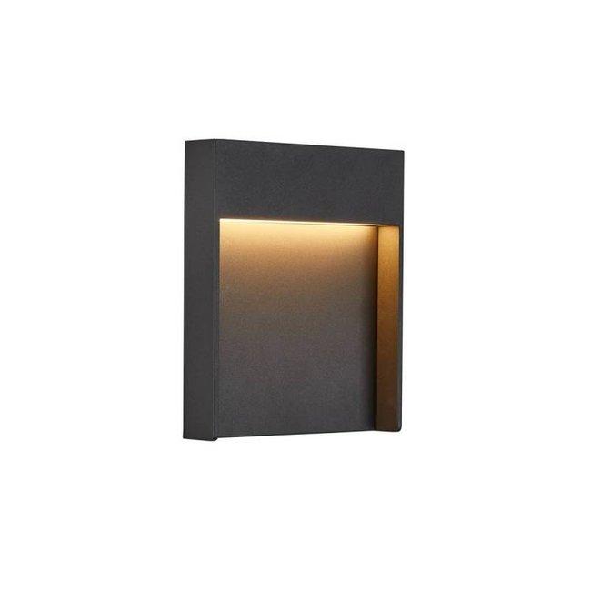 SLV FLATT  Antraciet SENSOR wandlamp