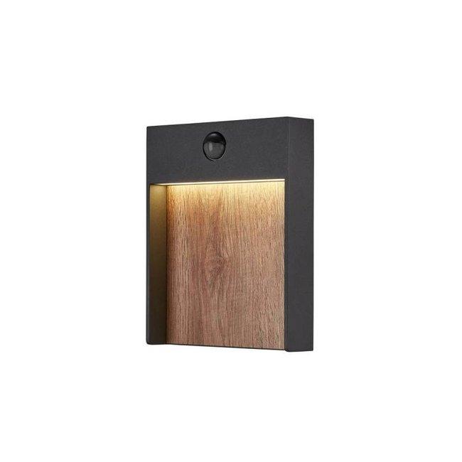 SLV FLATT  Antraciet / bruin  SENSOR wandlamp