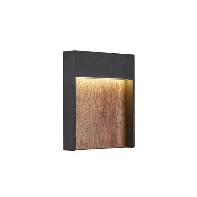 SLV FLATT  Antraciet / bruin wandlamp