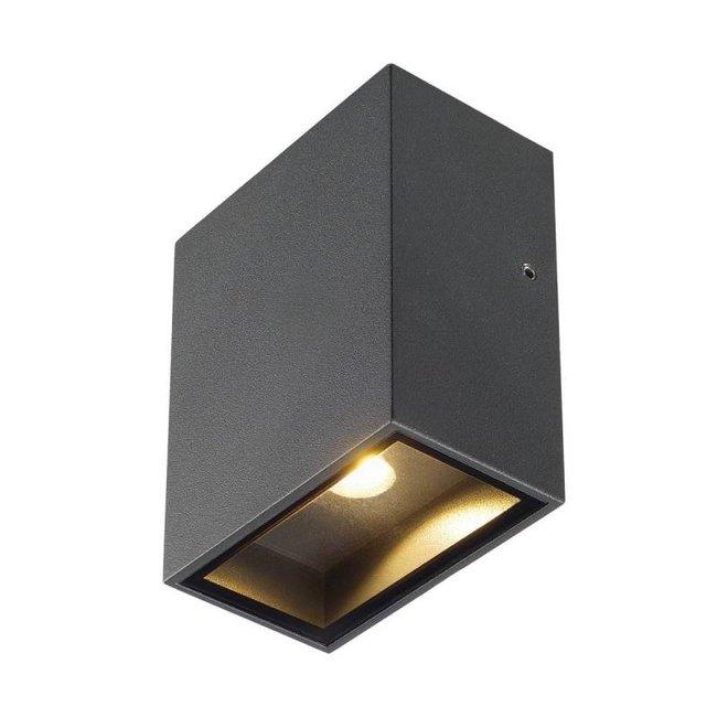 SLV Big Quad LED antraciet wandlamp