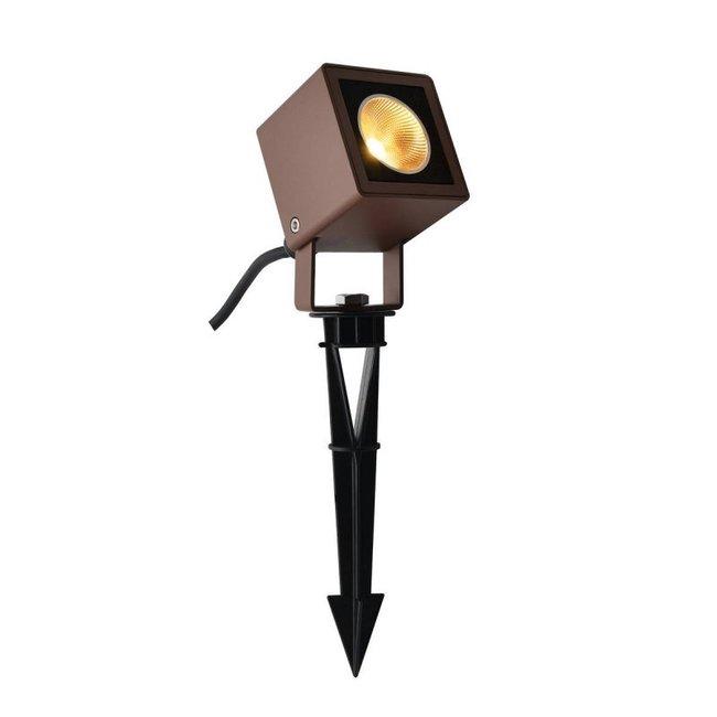 SLV Nautilus 10 Square LED bruin tuinspot