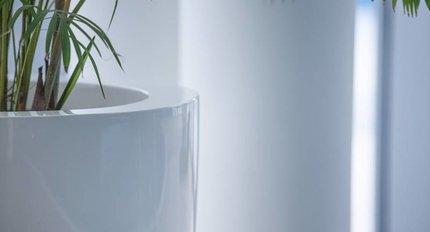 Hoogglans plantenbakken