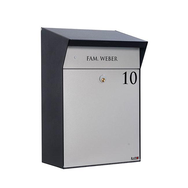 Allux BJORN zwart / grijs brievenbus