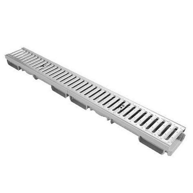 Nicoll  lijngoot Connecto 100 + RVS sleufrooster A15, 100 x 6 cm