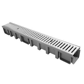 Nicoll lijngoot Connecto 100 + RVS sleufrooster A15, 100 x 11.5 cm