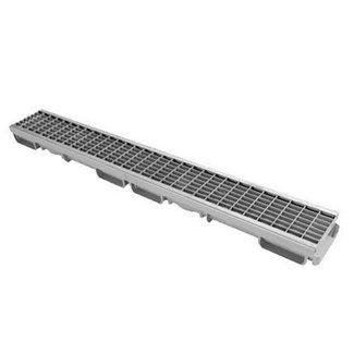 Nicoll lijngoot Connecto 100 + gegalvaniseerd maasrooster B125, 100 x 6 cm