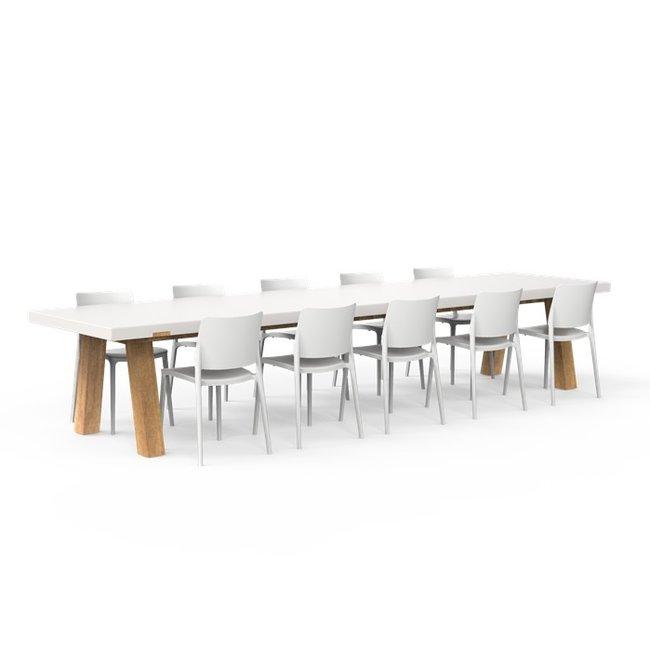 One to Sit XXL tafel COLLA 400 x 100 x h. 75 cm