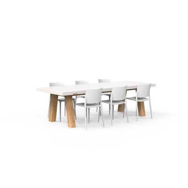 One to Sit XXL Tafel COLLA  260 x 100 x h. 75 cm