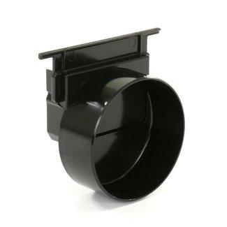 Nicoll eindkap, Connecto 100, uitlaat 110 mm opleg, zwart