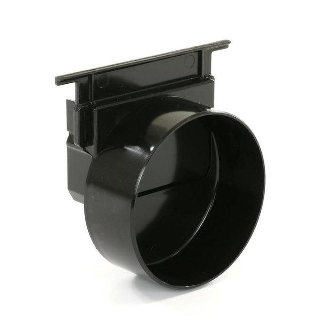 Nicoll eindkap, Connecto 100, uitlaat 110 mm opleg, zwart, voor art.nr. 254299 en 254338