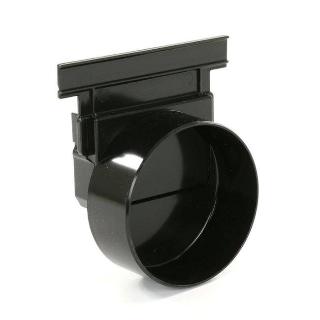 Nicoll eindkap, Connecto 100, uitlaat 110 mm inleg, zwart