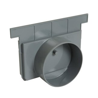 Nicoll eindkap, Connecto 200, uitlaat 125 mm inleg, grijs