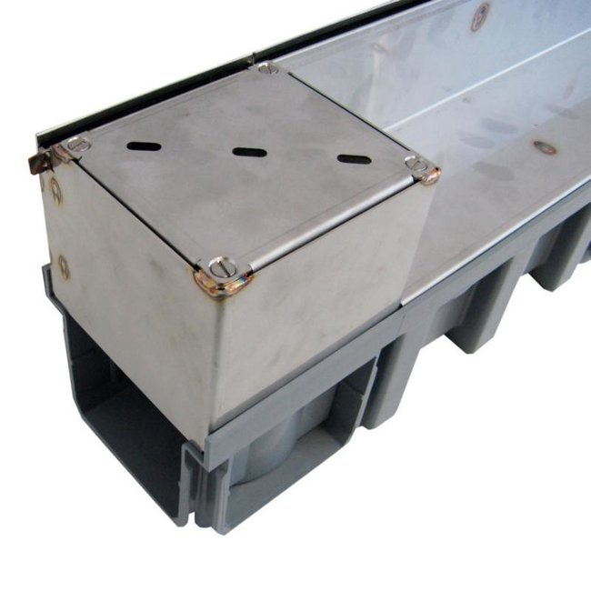 Nicoll TBH RVS doorspuitput Connecto 100, A15, 12,5 x 12,5 cm
