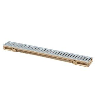 Anrin lijngoot, polyesterbeton SELF-Mini, incl. gegalvaniseerd sleufrooster