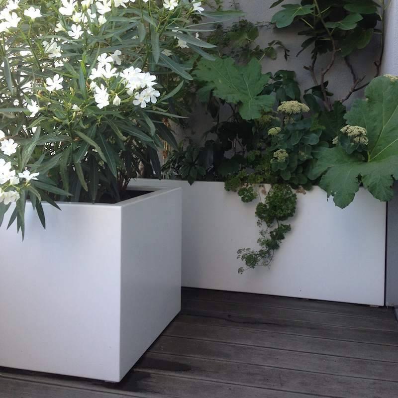 Grote Plantenbak Binnen.Florida Aluminium 120x120x80 Cm Plantenbak Tuinvoordeel Eu