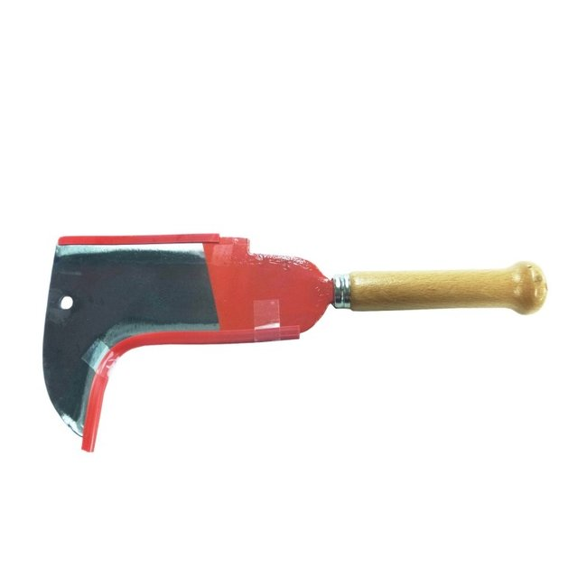 Polet 2-Zijdig kapmes 23CM Met houten handvat