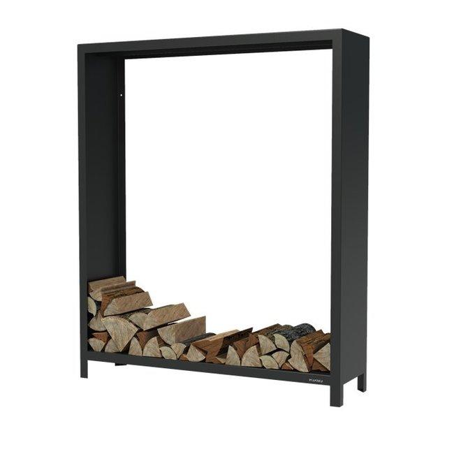 Forno houtopslag 150 x 40 x 180 cm zwart