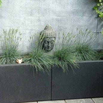 Buxus polyester 70x70x70 cm plantenbak