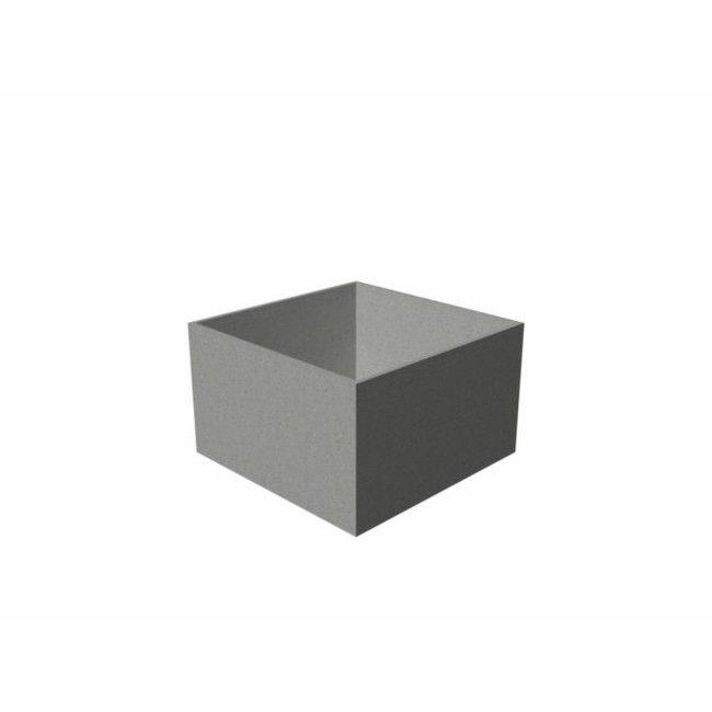 bloembak polymeerbeton Banco 100x100x80 cm