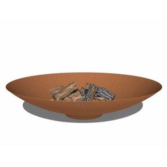 Burni vuurschaal Cortenstaal 150 x 33 cm