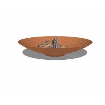 Burni vuurschaal Cortenstaal 100 x 21 cm