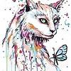 Artventura Cat with Butterfly