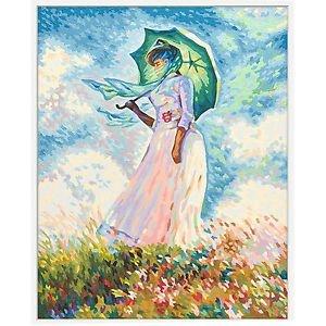Frau mit Sonnenschirm