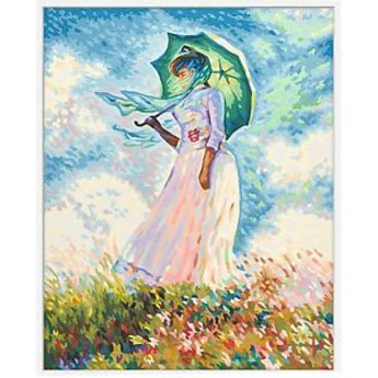 Schipper Frau mit Sonnenschirm