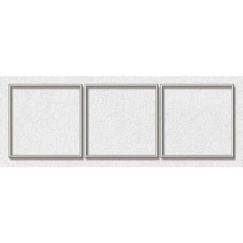 Aluminiumrahmen - 40 x 120 cm (Triptychon) Silber