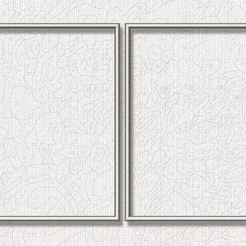 Aluminiumrahmen - 50 x 80 cm (Diptychon) Silber
