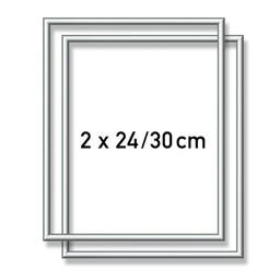 Schipper Aluminium lijst - 2X  24x30 cm Zilver