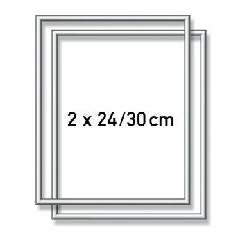 Schipper Aluminiumrahmen - 2X  24x30 cm  Silber