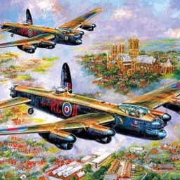Gibsons Lancaster over Lincoln