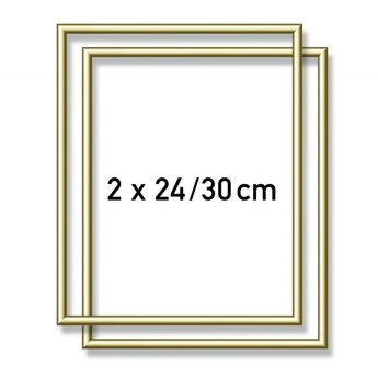 Aluminum frame - 2X  24x30 cm Gold