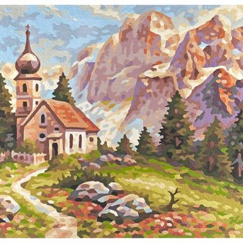 Little church in the Dolomite