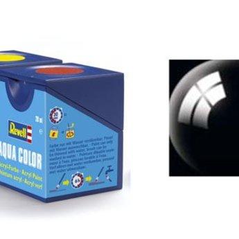 Revell Aqua Color : 007, Zwart (hoogglans)