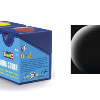 Revell Aqua Color: 008, Black (matte)