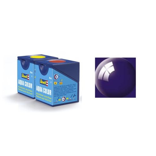 Revell Aqua Color: 054, Night Blue (Glanz)