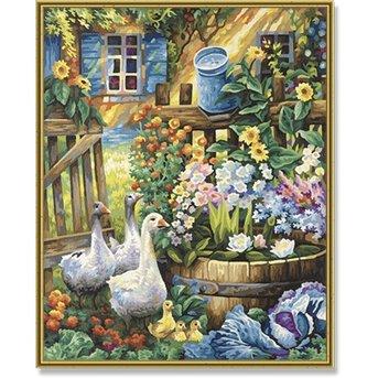 Schipper Geese in the Garden
