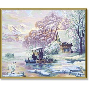Schipper Winter aan het Bergmeer