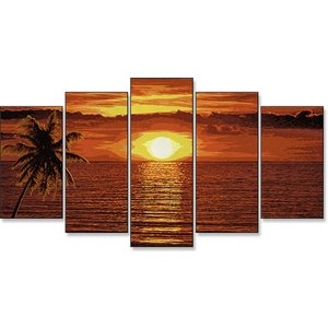 Schipper Sonnenuntergang in der Karibik