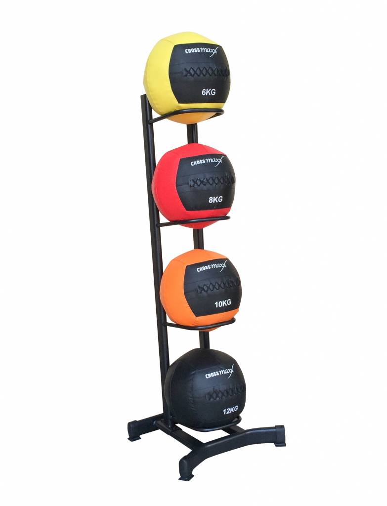 Crossmaxx® LMX1248 Wall ball rack for 4 wallballs (available July)