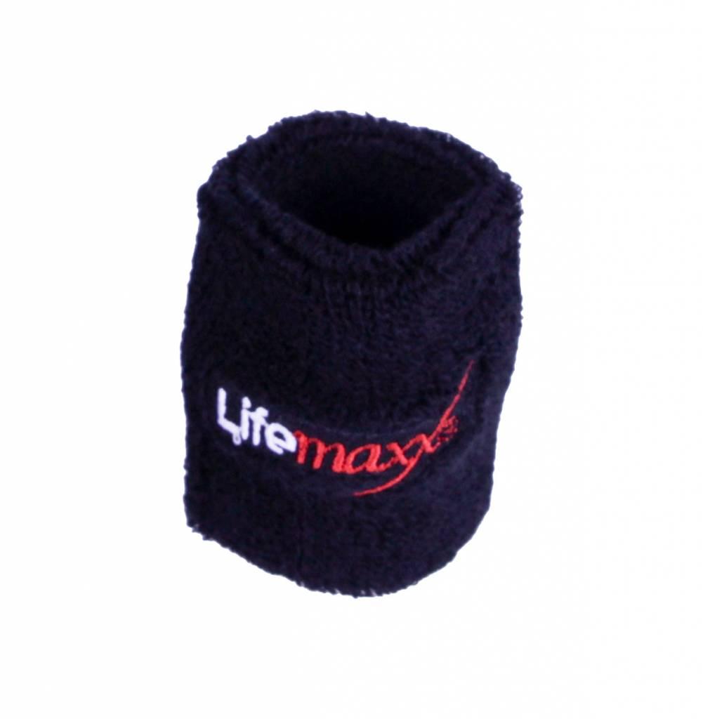Lifemaxx® LMX1816.L Lifemaxx® sweatband 75 x 75mm (black)