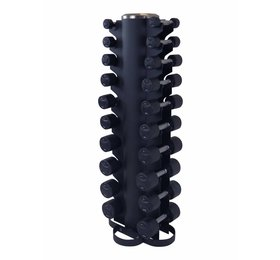 Lifemaxx® LMX79.SD Dumbbelltower with fixed dumbbellset 1 - 10kg (black)