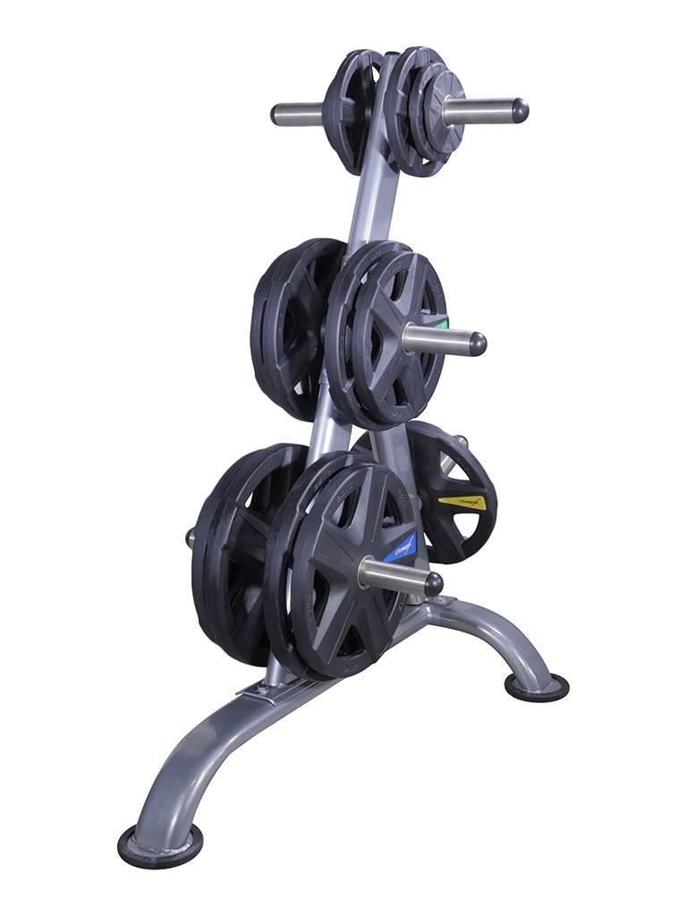 Lifemaxx® LMX92 Olympic disc dia. 50mm - black - 5-grip model (1,25 - 25kg)