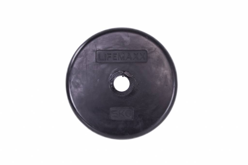 Lifemaxx® LMX84 Disc rubber coated 30 mm - black (0,5 - 10kg)