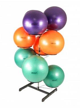 Lifemaxx® LMX1105 Gymball rack. For 9 gymballs (black)
