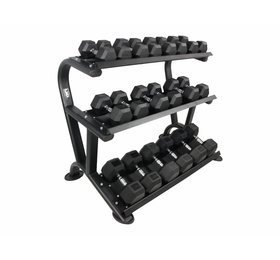 LMX.® LMX1014 LMX. Hexagon 3-tier dumbbell rack