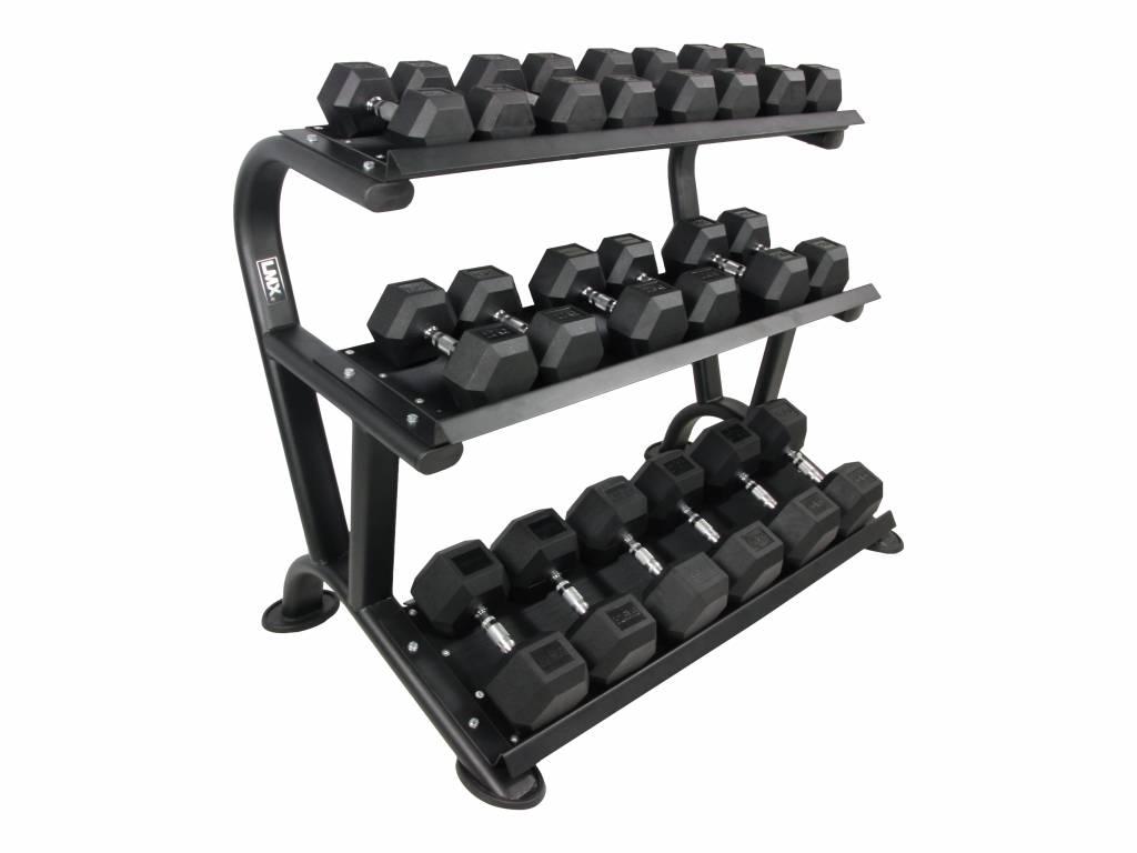 LMX.® LMX1014 LMX. Hexagon 3-tier dumbbell rack (leverbaar februari)